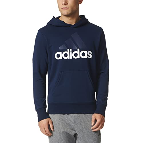 5214f7ccd5c82 adidas Men s Essential Linear Logo Pullover Hoodie