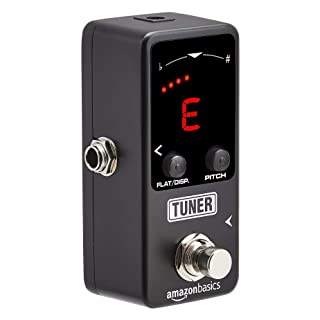Amazon Basics Mini Tuner Pedal for Guitar and Bass