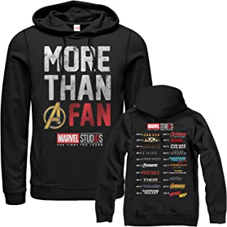 067f6d57dc0386 Marvel Men s 10th Anniversary More Than a Fan Hoodie