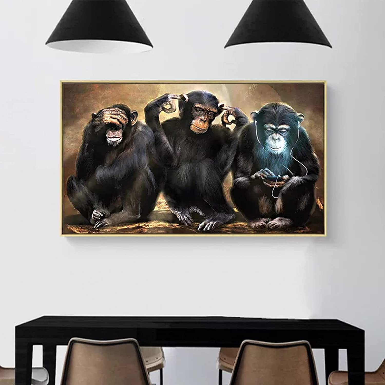Wall famous Shipping included Art Canvas Decorative Monkey Canva Animal Painting