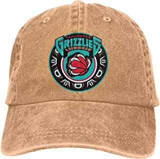 Vancouver Grizzlies Retro Denim Dad Cap Baseball Hat Adjustable Sun Cap