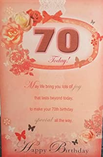 Xpress Yourself Special Age 70th Birthday Sentimental Verse 70 Today New Gift Greeting Card