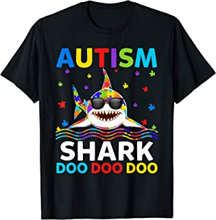 Funny Autism Shark Puzzle Awareness Day Cute Shirt For Boys