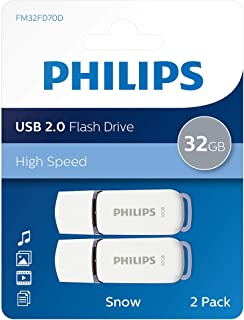 Philips USB 2.0 32Go / GB Snow Edition Gris 2-Pack