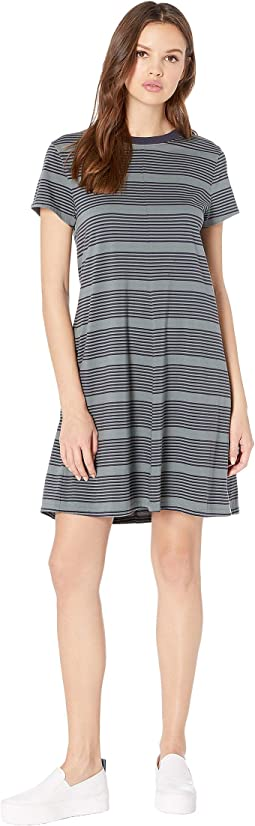 Striped Float Crew Neck Tee Dress