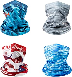 Bassdash UPF 50+ UV Sun Protection Neck Gaiter for Fishing Hunting Kayaking Hiking Cycling and Other Outdoor Activities, Pack of 4