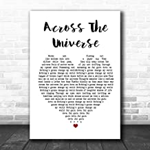 Across The Universe Heart Song Lyric Quote Music Poster Gift Present Art Print