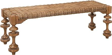 GUILD MASTER 7117002ET Seagrass Bench Table In Euro Teak Oil