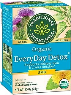 Traditional Medicinals Organic Everyday Lemon Detox Tea, 16 bags (Pack of 6)