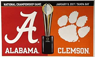 WinCraft University of Alabama & Clemson House Divided Deluxe Grommet Flag NCAA 3' x 5'