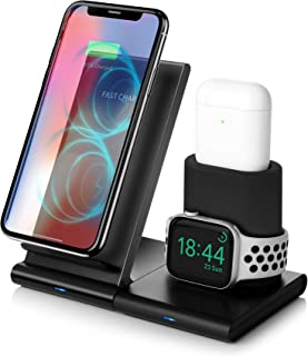 Wireless Charger,3 in 1 Qi-Certified 7.5W Fast Wireless Charging Stand Compatible iPhone..