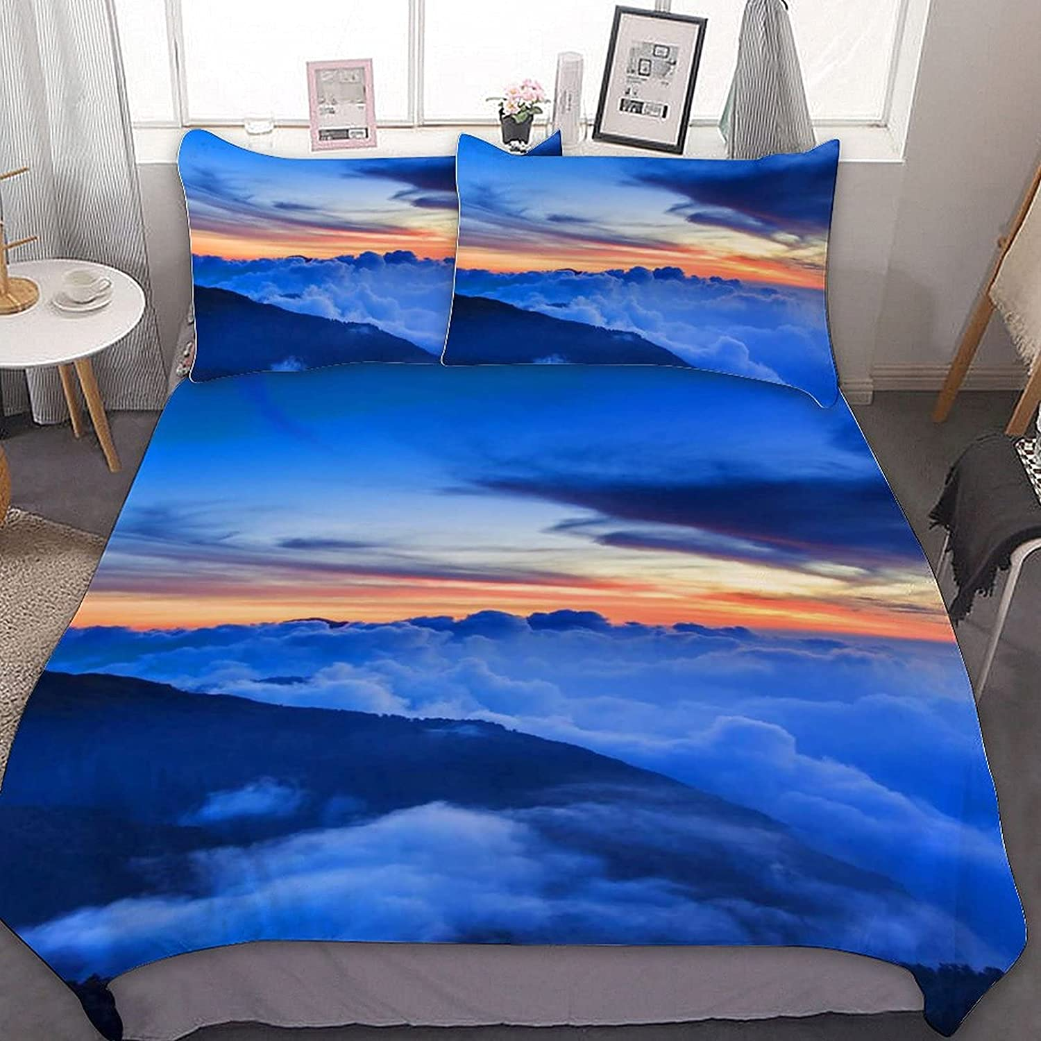 PNNUO Sunrise Clouds Queen Direct stock discount Bed Set Comforter Long Beach Mall King Twin Full Size