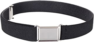 Hold'Em Kids Toddler Belt Made in USA Elastic Adjustable Stretch Boys Belts With Silver Square Buckle