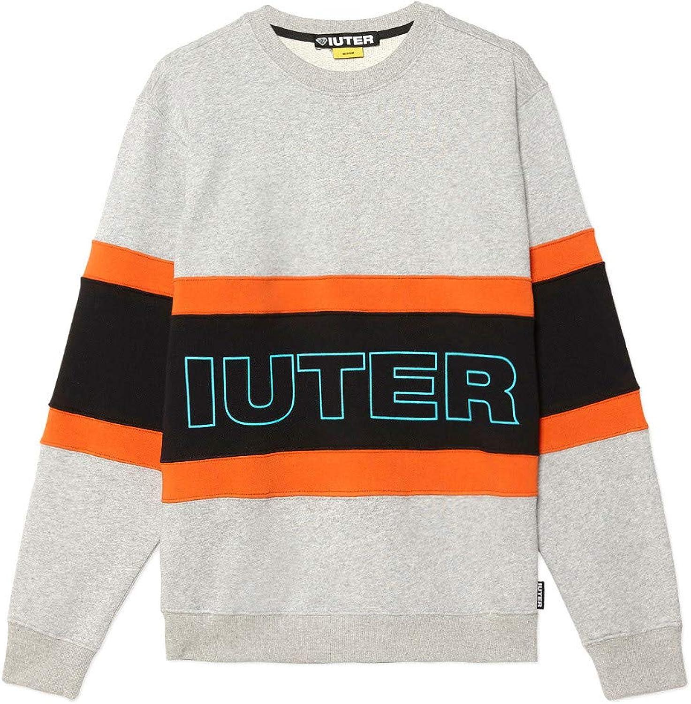 Iuter Herren Sweatshirt Grau grau Melange - schwarz - Arancio