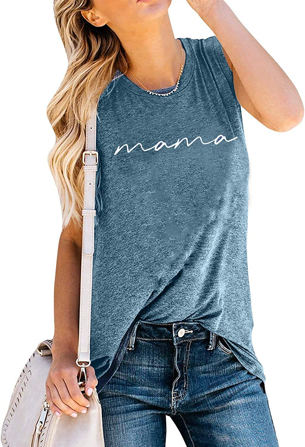 Mama Sleeveless specialty shop T-Shirts Popular product Letter Printed Summer Tank Top Mam
