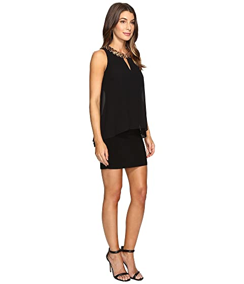 Jersey Dress Laundry Shelli Segal by Cocktail Matte Popover HH4TIw