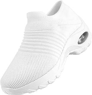 Women's Walking Shoes Slip on Sock Sneakers, Breathe Mesh Casual Running Jogging Nursing Work Shoes Lady Girls Modern Comf...