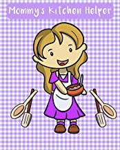 Mommy's Kitchen Helper: A blank recipe book for kids. Lavender color gingham plaid design cover.