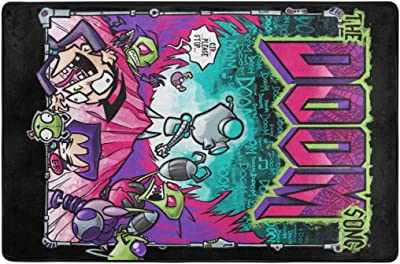 Invader Zim Carpets Non-Slip Area Rugs Home Decor Floor Mat Living Room Bedroom Carpets Doormats
