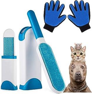 AidSci Guante de Mascotas + Kit de Cepillo de Limpieza de Mascotas, Mascotas Perros Gatos Manopla Masaje para Mascotas Ret...