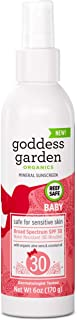 Goddess Garden - Baby SPF 30 Mineral Sunscreen Pump Spray - Sensitive Skin, Reef Safe, Zinc and Titanium, Broad Spectrum, ...