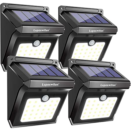 8PC 140 LED Solar Wall Light Motion Sensor Garden Path Outdoor Security Lamp