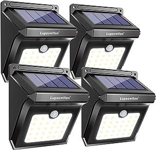 28 LEDs Solar Lights Outdoor, Luposwiten Solar Motion Sensor Lights Wireless Security Lights, 400 Lumen Waterproof Solar P...