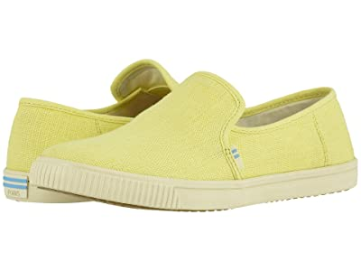 TOMS Clemente (Highlighter Yellow Heritage Canvas) Women