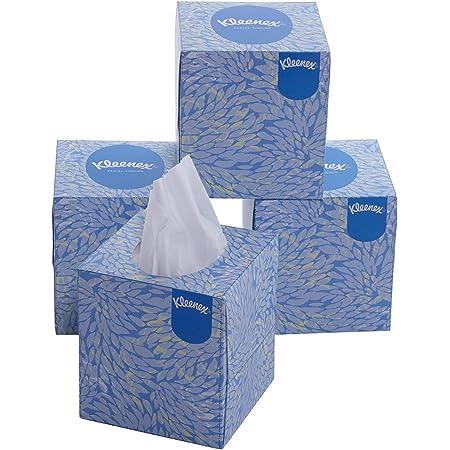 Kleenex® Facial Tissue Cube 60042-2 Ply Face Tissue - 4 Tissue Boxes X 80 Facial Tissues - Sheet Size 21 X 21 Cm (320 Facial Tissues)
