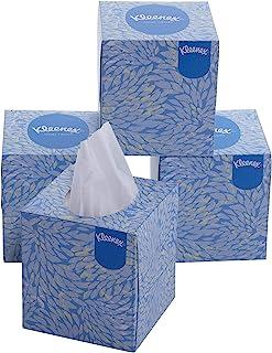 KLEENEX® Facial Tissue Cube 60042-2 ply Face Tissue - 4 Tissue Boxes x 80 Facial Tissues - Sheet Size 21 x 21 cm (320 faci...
