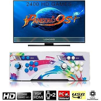 SeeKool 2400 Classic-Spiele Home Arcade Konsole, Pandoras Box 9s+ Joystick Spielkonsole, Kundenbezogene Schaltflächen, 1280x720 Full HD, Unterstützt PS3, HDMI und VGA Ausgang
