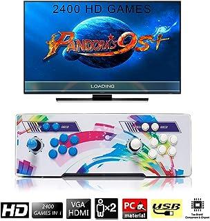 SeeKool 2400 Juegos clásicos Consola de Videojuegos Pandoras Box 9s+ Multijugador Arcade Game Console 2 Joystick Partes...