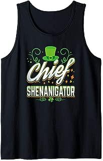 Fun Chief Shenanigator Irish Leprechaun Hat St Patrick Day Tank Top