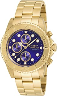 Men's Pro Diver 43.5mm Gold Tone Stainless Steel Chronograph Quartz Watch, Gold (Model: 19157)