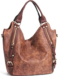 JOYSON Women Handbags Hobo Shoulder Bags Tote PU Leather Handbags Fashion  Large Capacity Bags 1613a9ed64b9a
