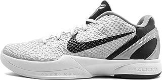 Nike Zoom Kobe VI - Mens - White/Black/Neutral Grey/Metallic Silver