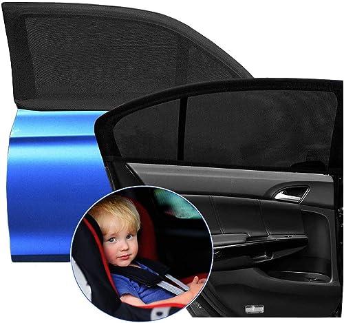 Cute Animal Pattern Car Sunshades Shield Visor for Children with PVC Adsorption UV Rays//Sunlight Protection Goosky Car Window Sun Shade for Baby Kids Black