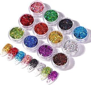 Nail Sequins Nail Art Glitter Decals Flakes Confetti Nail Art Supplies DIY Decoration - 12 Boxs