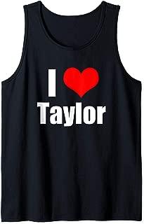 I Love Taylor Tank Top