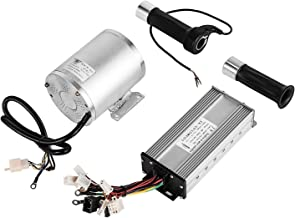 Mophorn 1800W Electric Brushless DC Motor Kit 48V High Speed Brushless Motor with 32A Speed Controller and Throttle Grip Kit for Go Karts E-bike Electric Throttle Motorcycle Scooter and More (1800W)