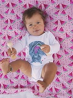 Dusty Road Apparel Winter Baby Clothes Australia | Organic Baby Onesies | Fruit Bat | Long Sleeve Onesie