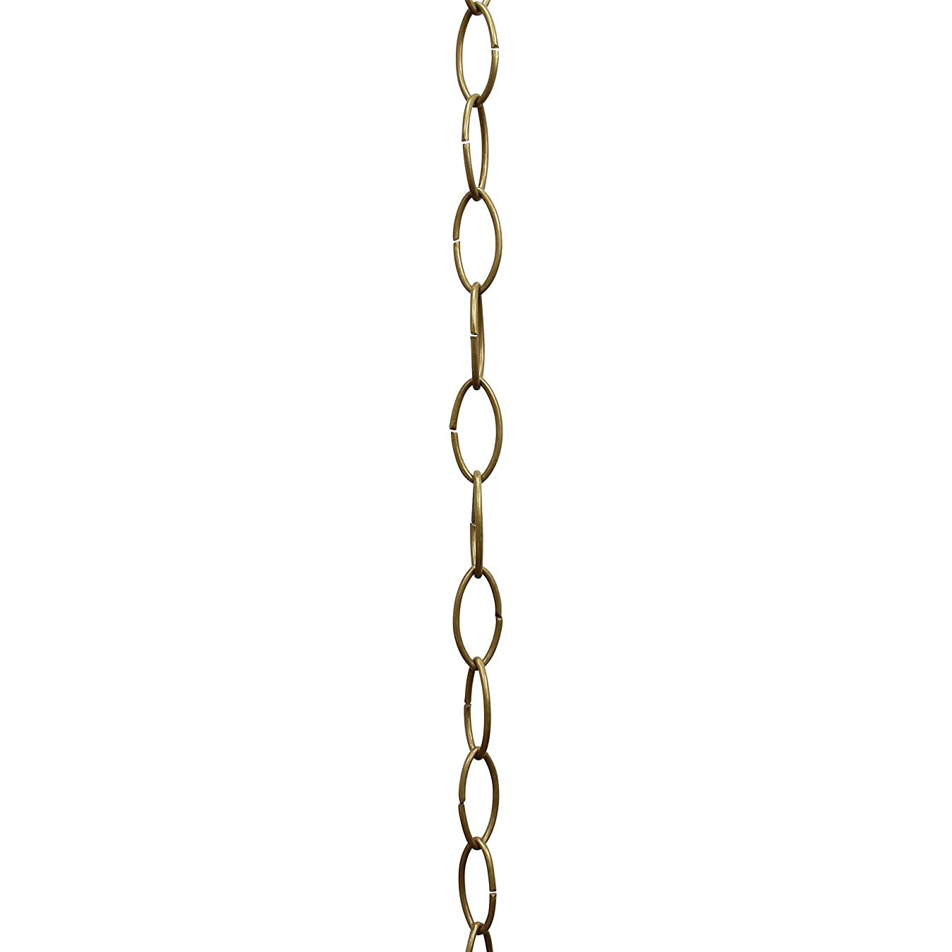RCH Hardware CH-43-AB Decorative Antique Solid Brass Chain for Hanging, Lighting - Large Oval Wire Unwelded Links ( 1 Foot)