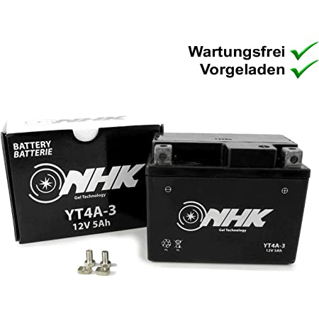 2extreme 5ah 12 Volt Batterie Wartungsfrei Inklusive 7 50 Batteriepfand Kompatibel Für Peugeot Speedfight 3 50 4 Takt Auto