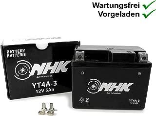 Steco Power Kreidler RMC F125/ Batterie sans entretien ytx7/a-4/de BS 6/Ah jonway yy150t de 2/150/4T Keeway ARN 125 Zahara 125