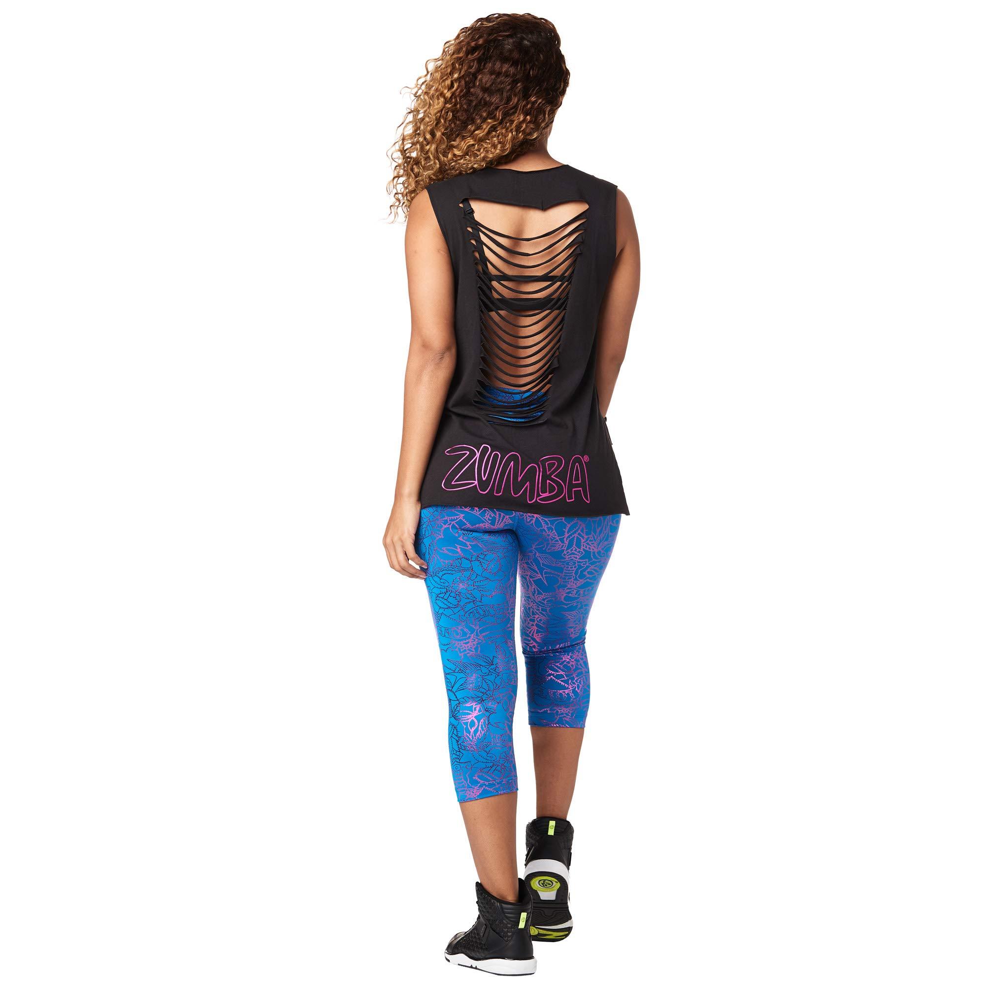 Zumba Womens Longsleeve Breathable Mesh with Fashion Print