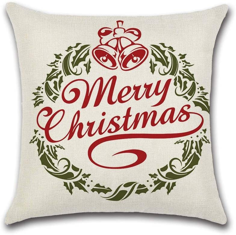 safety Max 81% OFF HXF- Cushion Cotton Comfortable Fabric Material Theme Christmas