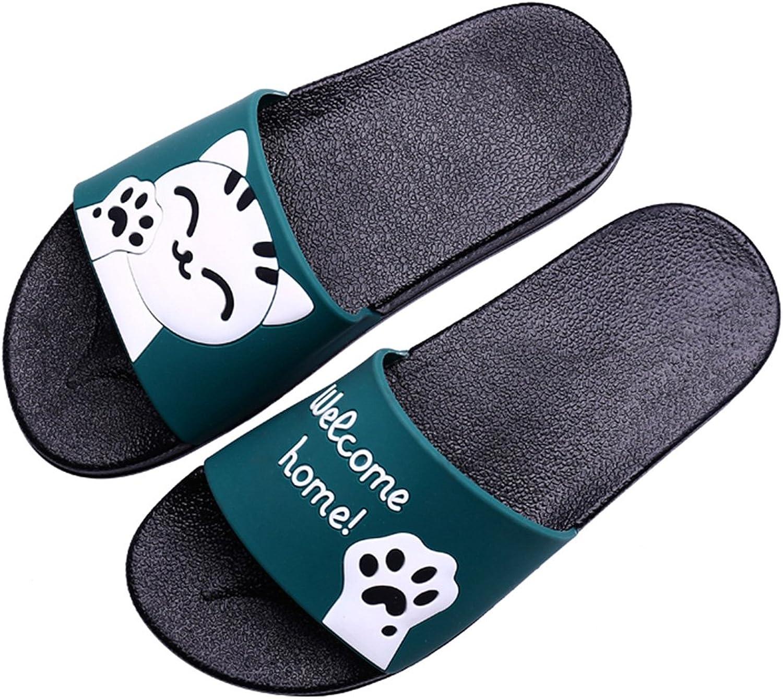 Mageed Fashion Summer Women Slides Cartoon Cat Beach Slippers Platform Sandalias Flip Flops