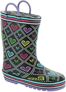 Western Chief Kids Boy's Quilted Hearts Rain Boot (Toddler/Little Kid)