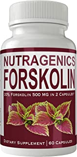 Nutragenics Forskolin for Weight Loss Supplement Pills Ultra Formula with 250mg High Quality Natural Forskolii Extract Appetite Suppressant Tablets Boost Metabolism