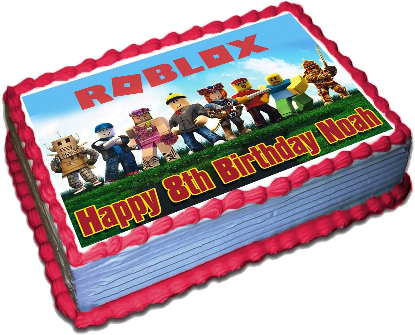 Roblx Personalized Cake Topper 1 4 Ca 2021 new x 8.5 Selling Birthday Inches 11.5
